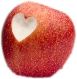 pomme  coeur d'amour