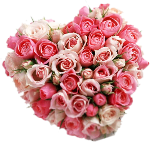 tube coeur en fleur st valentin. Black Bedroom Furniture Sets. Home Design Ideas