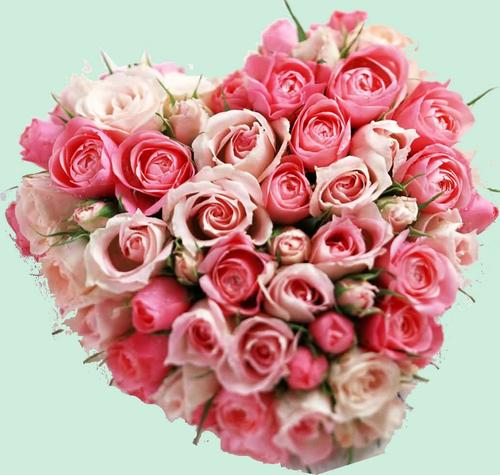Tube coeur en fleur st valentin - Fleurs saint valentin ...